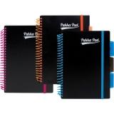 Caiet A5 cu spira si separatoare, 100 file, dictando, Neon mix culori, Pukka Pads