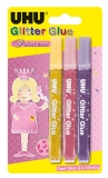 Adeziv Creativ Glitter glue Princess 3 x 10 ml UHU