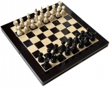 Joc de Sah si Table, negru-alb, 27 cm
