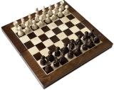 Joc de Sah si Table, maro-alb, 45 cm