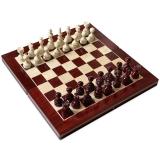 Joc de Sah si Table, rosu-alb, 27 cm