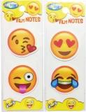 Index plastic adeziv Emojidex, 40 x 40 mm, 20 buc pe coala Centrum