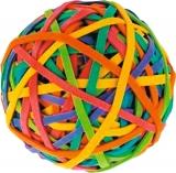 Elastice de bani in forma de minge 60 gr 40 mm diverse culori Centrum