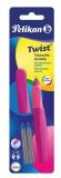 Roller Twist neon 2 rezerve albastre Pelikan