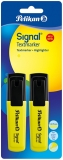 Textmarker Signal galben fluorescent 2 buc/blister Pelikan