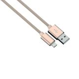 Cablu de incarcare / sincronizare Lightning pentru iPhone Color Line, auriu, 1 m Hama