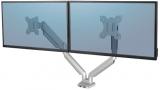 Brat pentru monitor dual individual, culoare argintiu, seria Platinum Fellowes