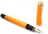 Stilou Souveran M600 Vibrant Orange, penita M, Pelikan