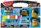 Acuarele guase Color'Peps ultralavabile 75 ml 5 culori/set Fluo & Metallic Maped