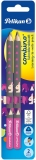 Creion grafit Combino roz, mina B, 2 buc/set Pelikan