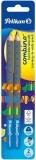 Creion grafit Combino, albastru, mina B, 2 buc/set Pelikan