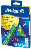 Creioane colorate Combino, 4 mm, 12 culori/set Pelikan