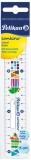 Rigla plastic Combino, 15 cm, Pelikan