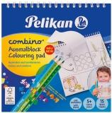 Carte de colorat Combino cu spirala Pelikan