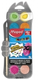 Acuarele + pensula 12 culori/set Color'Peps Maped