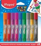 Adeziv lichid cu sclipici Color Peps 9 culori/set Maped