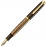 Stilou Souveran M800 Black-Brown, penita M, Pelikan