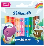 Carioca combino super 411 set 9 culori varf gros Pelikan
