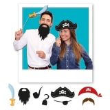 Photo Booth 20 cm Pirati 8 buc/Set Big Party