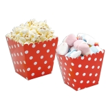 Cutie Sweety 6.5 x 8 x 6.5 cm Pois Rosu 6 buc/Set Big Party