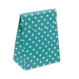 Cutie Saculet Pois Acqua Marin 25 buc/Set Big Party