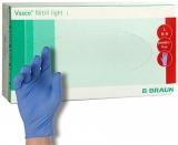 Manusi examinare nitril, fara pudra, L, albastru 100 buc/cutie Vasco