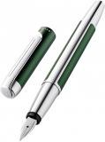 Stilou Pura P40, culoare Deep Green, penita F, Pelikan