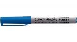 Marker permanent Marking Pocket 1445, 1.1 mm, albastru Bic