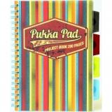 Caiet cu spira si separatoare B5, 100 file, matematica Project Book Americano Pukka Pads