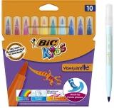 Carioci lavabile Visaquarelle 10 buc/set Bic