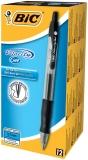 Cutie roller 12 bucati Velocity Gel 0.7 mm negru Bic