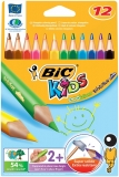 Creioane colorate 12 culori Evolution Triunghiulare Bic