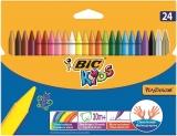 Creioane cerate Kids Plastidecor, diverse culori, 24 buc/set Bic