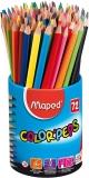 Creioane colorate School Peps, 72 buc/set, 12 culori/set, Maped