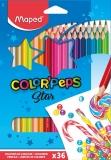 Creioane colorate Color Peps Star cutie metal 36 culori/set Maped