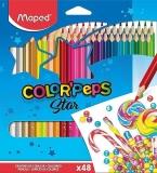 Creioane colorate Color Peps Star, 48 culori/set, Maped