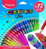 Creioane colorate Color Peps Star, 72 culori/set, Maped