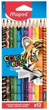 Creioane colorate Color Peps Animals 12 buc/set Maped