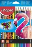 Creioane colorate Color Peps Animals, 18 culori/set, Maped