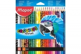 Creioane colorate Color Peps Animals 24/set Maped