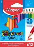 Creioane colorate Color Peps Star Mini 12 culori/set Maped