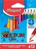Creioane colorate Color Peps Star Mini 12 culori/set Maped