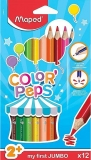 Creioane colorate Color Peps My First Jumbo FSC, 12 culori/set, Maped