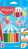 Creioane colorate Color Peps Jumbo 12 culori/set Maped