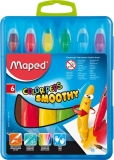 Creioane cerate 6 culori Smoothy Maped