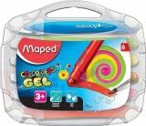 Creioane cerate colorate pe baza de gel solid, Color Peps Gel, 6 culori/set, Maped