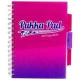 Caiet cu spira si separatoare A5, 100 file, matematica, Project Book Fusion Pukka Pads