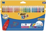 Carioci ultralavabile Kid Couleur 24 culori/set Bic