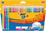 Carioci 24 culori ultralavabile Kid Couleur Bic