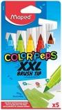 Carioca Color Peps Brush XXL 5 culori/set Maped
